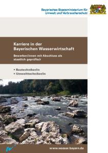 Karriere in der Bayerischen Wasserwirtschaft