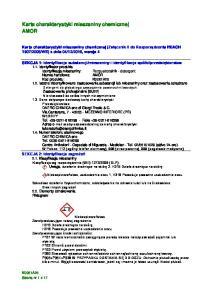 Karta charakterystyki mieszaniny chemicznej AMOR