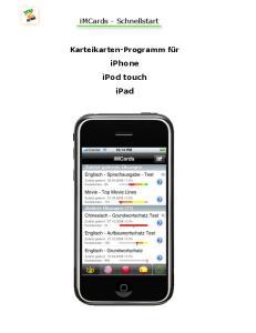 Karteikarten-Programm für iphone ipod touch ipad