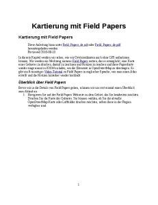Kartierung mit Field Papers