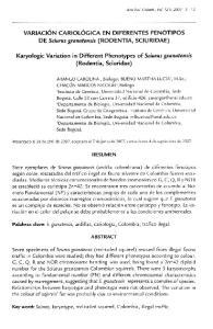 Karyologic Variation in Different Phenotypes of Sciurus granatensis (Rodentia, Sciuridae)