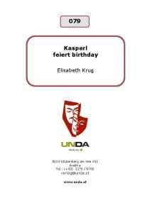 Kasperl feiert birthday