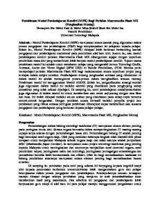 Katakunci : Modul Pembelajaran Kendiri (MPK), Macromedia Flash MX, Penghasilan Montaj
