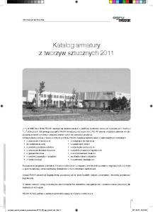 Katalog armatury z tworzyw sztucznych 2011