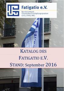 KATALOG DES FATIGATIO E.V. STAND: September 2016