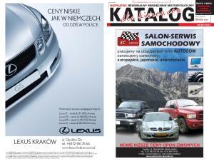 KATALOG. dla kierowców SALON-SERWIS SAMOCHODOWY LEXUS KRAKÓW AUTOCOM