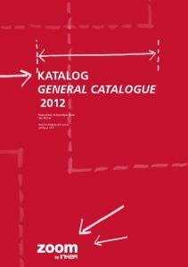 Katalog General catalogue 2012