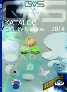 KATALOG. GVS Life Sciences