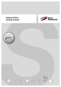 Katalog S-Serie Catalog S-Series