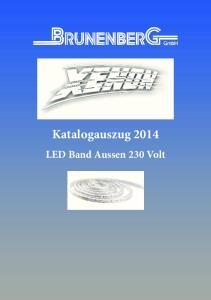 Katalogauszug LED Band Aussen 230 Volt