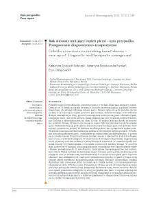 Katarzyna Dobruch Sobczak 1, Katarzyna Roszkowska Purska 2, Eryk Chrapowicki 3. Journal of Ultrasonography 2013; 13: