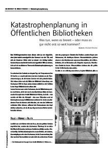 Katastrophenplanung in Öffentlichen Bibliotheken