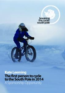 Kate Leeming The first person to cycle to the South Pole in 2014