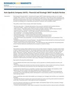 Kate Spade & Company (KATE) - Financial and Strategic SWOT Analysis Review