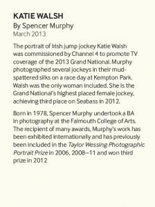 KATIE WALSH By Spencer Murphy March 2013