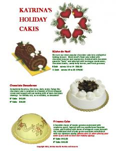 KATrINA S Holiday Cakes