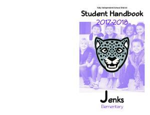Katy Independent School District Student Handbook Jenks. Elementary