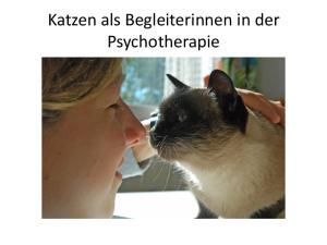 Katzen als Begleiterinnen in der Psychotherapie