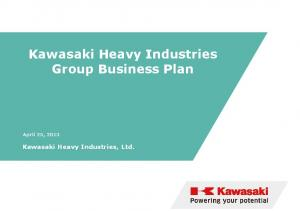 Kawasaki Heavy Industries Group Business Plan