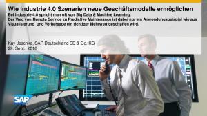 Kay Jeschke, SAP Deutschland SE & Co. KG 29. Sept., 2016