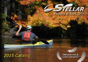 Kayaks & Surf Skis Catalog INNOVATIVE & LIGHT-WEIGHT!