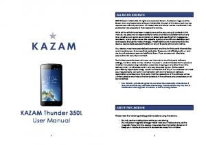 KAZAM Thunder 350L User Manual