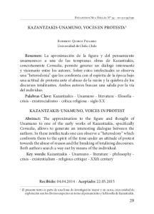 Kazantzakis-Unamuno, voces en protesta 1
