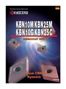 KBN25MKBN25M. Neue CBN Kyocera TZG00026