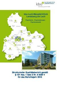 kbo-lech-mangfall-klinik Landsberg am Lech Psychiatrie - Psychotherapie - Psychosomatik