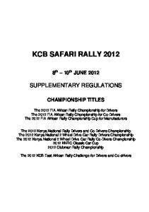 KCB SAFARI RALLY 2012