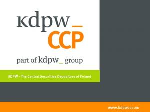 KDPW - The Central Securities Depository of Poland