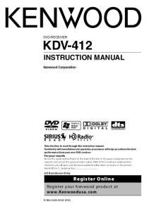 KDV-412 INSTRUCTION MANUAL