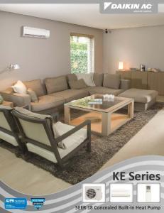 KE Series. SEER 18 Concealed Built in Heat Pump