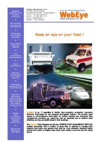 Keep an eye on your fleet!