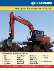 Keep your Excavator on the Job!