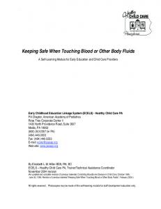 Keeping Safe When Touching Blood or Other Body Fluids