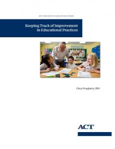 Keeping Track of Improvement in Educational Practices