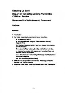 Keeping Us Safe Report of the Safeguarding Vulnerable Children Review