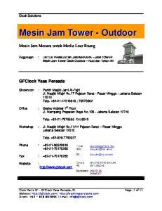 Kegunaan : UNTUK PEMBUATAN JAM MENARA JAM TOWER Mesin Jam Tower Clock Outdoor Kuat dan Tahan Air