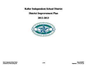 Keller Independent School District District Improvement Plan
