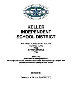 KELLER INDEPENDENT SCHOOL DISTRICT