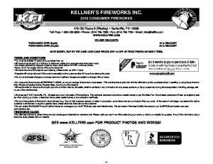 KELLNER S FIREWORKS INC
