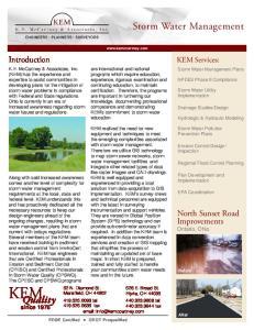KEM. Quality. Storm Water Management