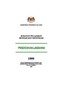 KEMENTERIAN PENDIDIKAN MALAYSIA SUKATAN PELAJARAN RENDAH DAN MENENGAH PENDIDIKAN JASMANI