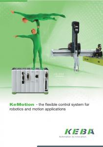 KeMotion - the flexible control system for robotics and motion applications