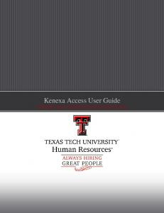 Kenexa Access User Guide HIRING MANAGER FUNDAMENTALS