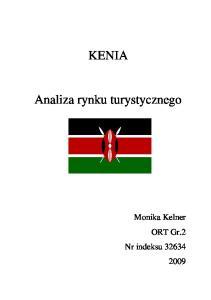 KENIA. Analiza rynku turystycznego