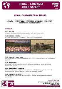 KENIA TANZANIA GRAN SAFARI