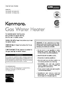 Kenmore Gas Water Heater