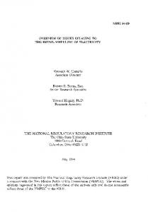Kenneth W. Costello Associate Director. Robert E. Burns, Esq. Senior Research Specialist. Youssef Hegazy, Ph.D. Research Associate